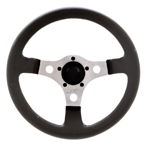 "VW Bug Ghia  Formula GT Steering Wheel Silver 3-Spoke 12"" 3"" Dish 79-4039"