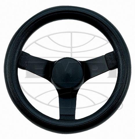 "Steering Wheel Black 10-1/4 - 2-1/2"" Dish Rat Rod Hot VW Buggy Sand Rail 79-4052"