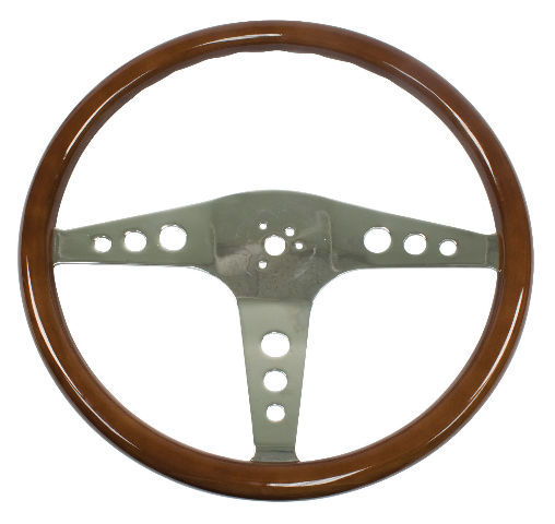 "VW Bus Type 2 EMPI Classic Wood Steering Wheel, 457mm, 1-1/2"" Dish 79-4055-6"