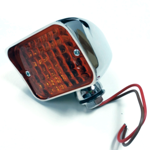 XL Bullet Turn Signal Light, Amber Lens, Universal Mount - Hot Rat Street Rod HD