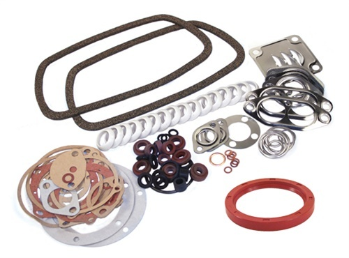 GERMAN ELRING ENGINE GASKET KIT, VW BUG, BUS, GHIA, TYPE 3, 1300-1600CC, W/ REAR MAIN SEAL