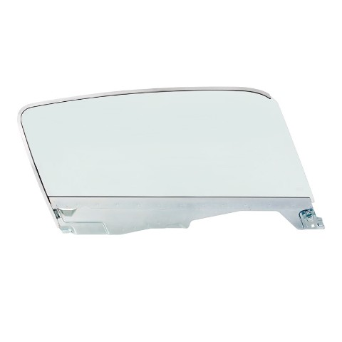 Complete Tint Door Glass Assembly For 1965-66 Ford Mustang Fastback - R/H