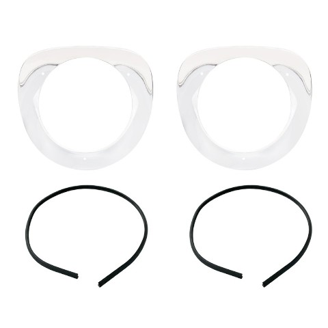 Chrome Headlamp Bezel Set With Seals For 1955-57 Chevy Truck