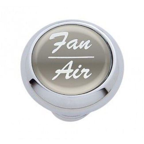 "Chrome Aluminum ""Fan/Air"" Dash Knob with Silver Aluminum Sticker"