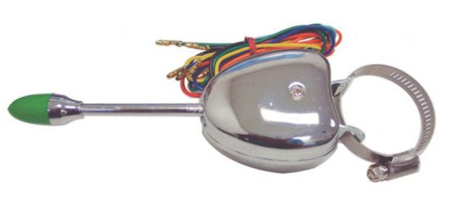 Universal Turn Signal Switch - Chrome Steel Housing, Vintage, Car, Truck