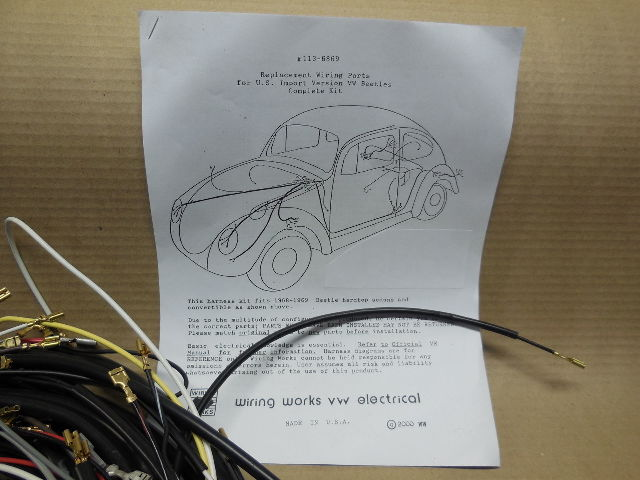 1971 Vw Volkswagen Super Beetle Complete Wiring Works Wire Harness Kit