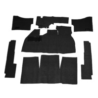 EMPI  VW BUG BEETLE BAJA CARPET KIT 71-72 SUPER BEETLE W/ FOOT REST ,BLACK 3917