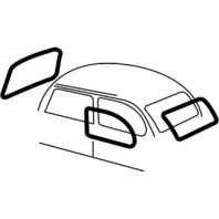 EMPI VW BUG BEETLE CAL LOOK WINDOW KIT BY EMPI  65-71 &71 S/B  4-PIECE SET #3587