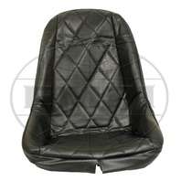 VW BUG BAJA ROCK CRAWLER SAND RAIL LOW-BACK DIAMOND VINYL SEAT COVER, BLACK