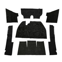 EMPI  VW BUG BEETLE BAJA CARPET KIT 71-72 SUPER BEETLE W/O FOOT REST, BLACK 3918