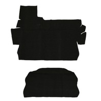 EMPI VW BUG 73-79 SUPER BEETLE & VERT FRONT TRUNK CARPET KIT  2-PC  BLACK  4287