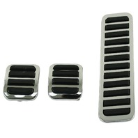 VW Beetle Bug Ghia Custom Throttle, Brake and Clutch Pedal Covers,3-pc Set 4551