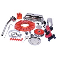 EMPI Engine Trim Super Chrome / Red Dress Up Kit VW Bug Buggy VW Beetle 8653