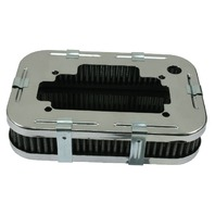 "VW Bug Buggy 1-3/4"" Tall Chrome Air Cleaner Fits Weber DGV/DGAV/DGEV -EMPI 8806"
