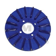 New EMPI VW Blue Finned Alt/Gen Pulley Cover - 8927