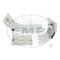 VW BUG AIR COOLED 1300-1600 HEATER BOX CHANNEL KIT,CHROME 8949