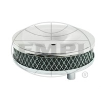 """EMPI VW TYPE 3 CHROME AIR CLEANERS 5"""" Round , SET OF 2, 1-3/4"""" TALL  9127"""