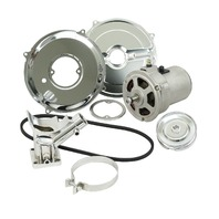 EMPI VW BUG BUGGY SAND CAR 12V /55AMP ALTERNATOR KIT ALL CHROME COMPONENTS 9450