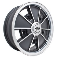 EMPI BRM Rim 5 X 15 wheel Matt Black Early Bug Bus Type 1 2 3, 5-205,  9675