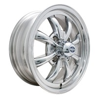 EMPI GT-8-Spoke EMPI Rim 5.5 X 15 Polished wheel VW bug Type 1 2 3 ,4x130  9684