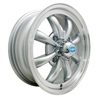 EMPI GT-8-Spoke EMPI  5.5 X 15 Silver  wheel VW bug Type 1 2 3 , 4x130  9685