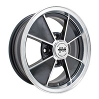 EMPI BRM Rim 5-1/2 X 15 wheel Gloss Black Late Bug Ghia Type 1 , 4-130, 9735