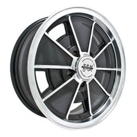 EMPI BRM Rim 17x7 wheel Black Late NEW BEETLE 2000 UP , 5-100