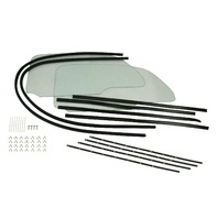 EMPI Vw Bug 58-64 ONE PIECE WINDOW KITS W/GLUE-IN SCRAPERS 9760