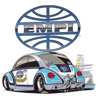 Empi T-Shirt VW Bug New Beetle Inch-Pincher 100% Cotton, XX-Large 9809