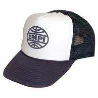 Empi Hat, Baseball Cap ,VW , White With Blue Visor ,Screened  Logo  9893