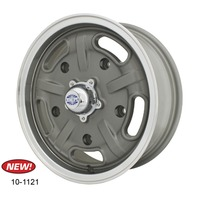 Corsa Wheel Gun Metal Grey w/ Polished Lip 15X5.5, 5X205 - VW Bug EMPI 10-1121