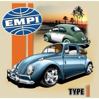 Empi T-Shirt , VW  Volkswagen Type 1 Bug 100% Cotton , XX-Large , 15-4056