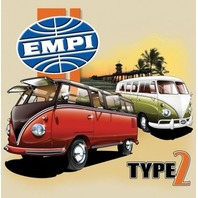 Empi T-Shirt VW Volkswagen  Type 2 Bus 100% Cotton Small  15-4069