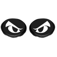 "EMPI Light Covers 6"" Inch Round Black Vinyl with Eyes Pair  16-9148"