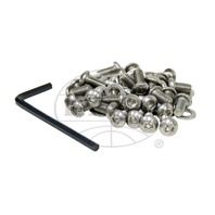 EMPI VW BUG BUS 6MM 34PCS STAINLESS STEEL BUTTON HEAD SHROUD SCREW KIT  17-2960