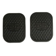"EMPI  ""EMPI"" LOGO PEDAL PADS (2) FOR VW BUG GHIA BUS BUGGY RAIL BAJA  17-2996"