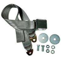 """EMPI VW BUG  AIR COOLED, 2 Point Aviation Style Lap Seat Belt, GREY,  72"""" EA."""