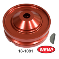 Red 12V Alternator / Generator Pulley Kit, VW Beetle Baja Buggy EMPI 18-1081