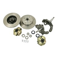EMPI VW BUG T1 BALL JOIN 2-1/2 DROP SPINDLE DISC BRAKE KIT 5X130/5X4-3/4 22-2887