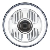 """7"""" High Power Led Projection Headlight With Dual Function Led Halo Ring"""