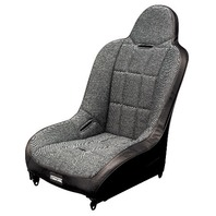 Race-Trim Hi-Back Seat Buggy Rock Crawler Baja Black With Tweed Fabric, 62-2750