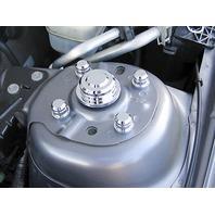 Pirate MU0031SC  2005-10 Ford Mustang Chrome Billet 10pc Strut Tower Cap Kit