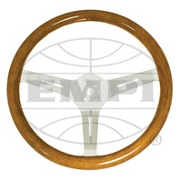 "VW Bug Ghia EMPI Classic Wood Steering Wheel , 380mm Diametr w/23mm Grip,3"" Dish"