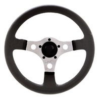 "VW Bug Ghia  Formula GT Steering Wheel Polished 3-Spoke 13"" 3"" Dish 79-4037"