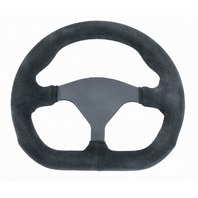 "VW Sand Rail Rock Crawler D-Shape Steering Wheel Black Suede 3-Spoke 10"" 79-4040"