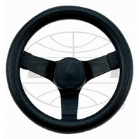"Steering Wheel Black 10-1/4 - 2-1/2"" Dish Rat Rod Hot VW Buggy Sand Rail 79-4052"