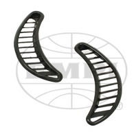 VW BUG BEETLE TYPE 1 71-77 QUARTER GRILLS,BLACK PLASTIC,PAIR. 113 819 447A/8A