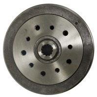 98-5002-7 REAR BRAKE DRUM, DUAL DRILLED, PORSCHE & CHEVY, TYPE 1 68-79, GHIA 68-74, EACH