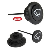 Wiper Switch Knob, Black, Each, Compatible with VW Bug GHIA 68-UP, T-3 68-71 T-2 68-72