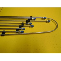 Air Cooled VW Bug, 68-77 Stainless Steel 7Pc Brake Line Kit, 113698723S